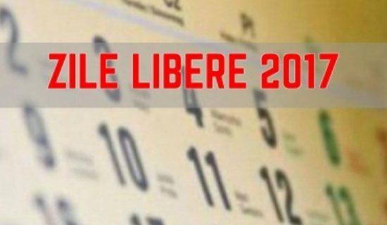 Calendarul sărbătorilor legale: 14 zile libere în 2017